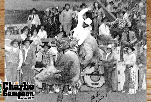 Charlie Sampson 1981 Short Go-Round San Fransisco Cow Palace Flying U 45 with Bobby DelVecchio