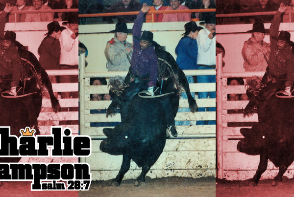 Charlie Sampson at the 1991 Denver Stock Show and Rodeo Finals.