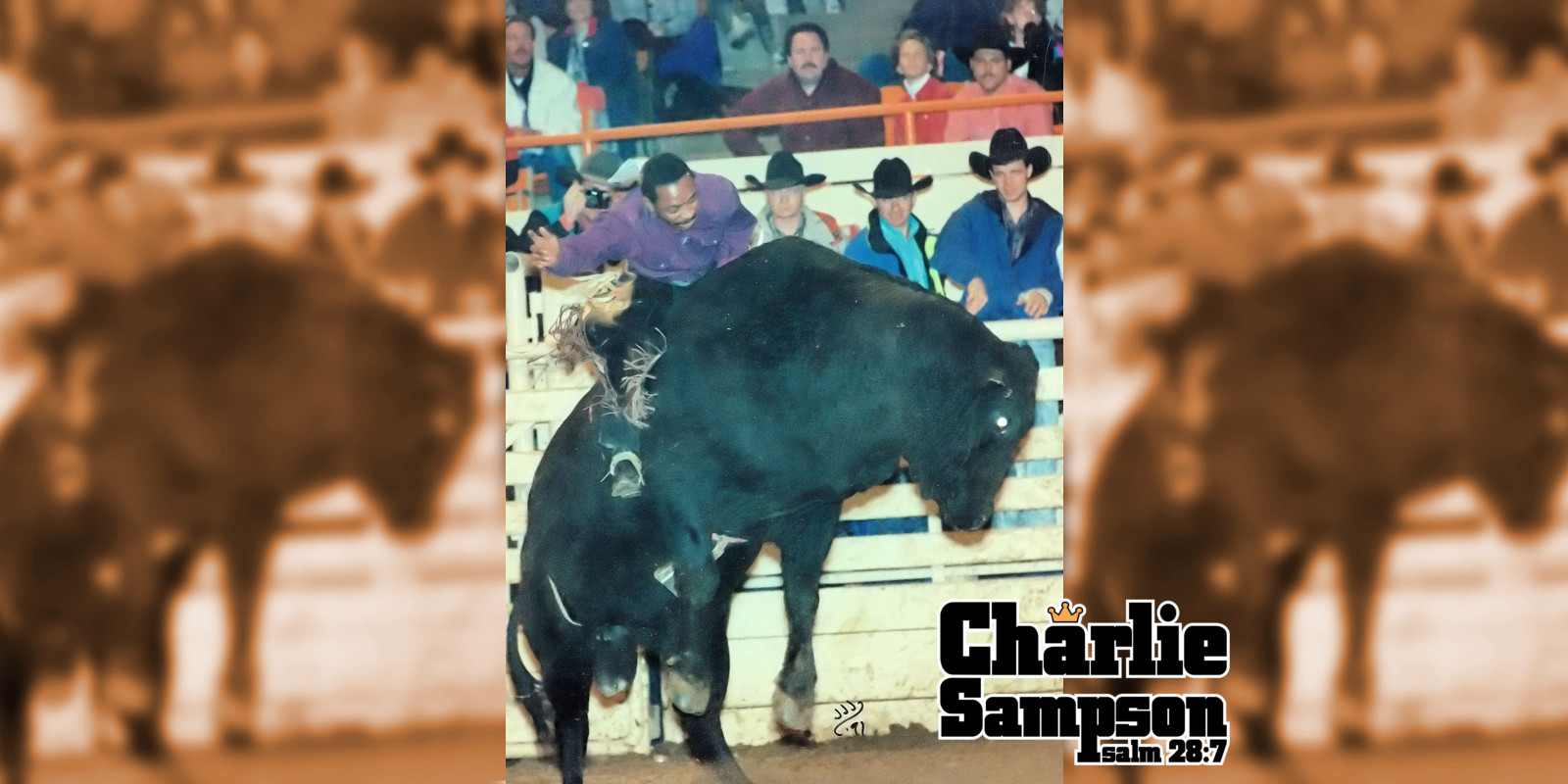 Charlie Sampson 1991 Short Round Denver Colorado Number 66 of Benny Butler with Brent Therman 1998 Saddle Bronc Rider Tommy Reves and 93 94 NFR Qualifier