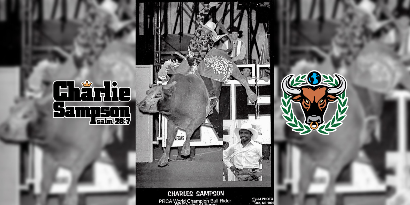 Charlie Sampson 1992 NFR Number 74 Flying U Rodeo