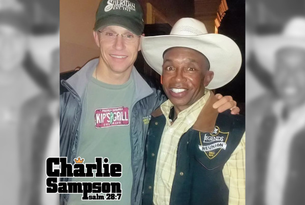 Charlie Sampson and 8x World All-Around Champion Ty Murray in Las Vegas Nevada in 2013