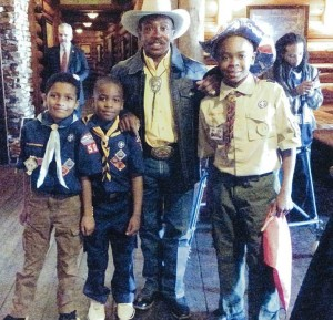 Charlie Sampson with the Denver Boy Scouts of America in 2012